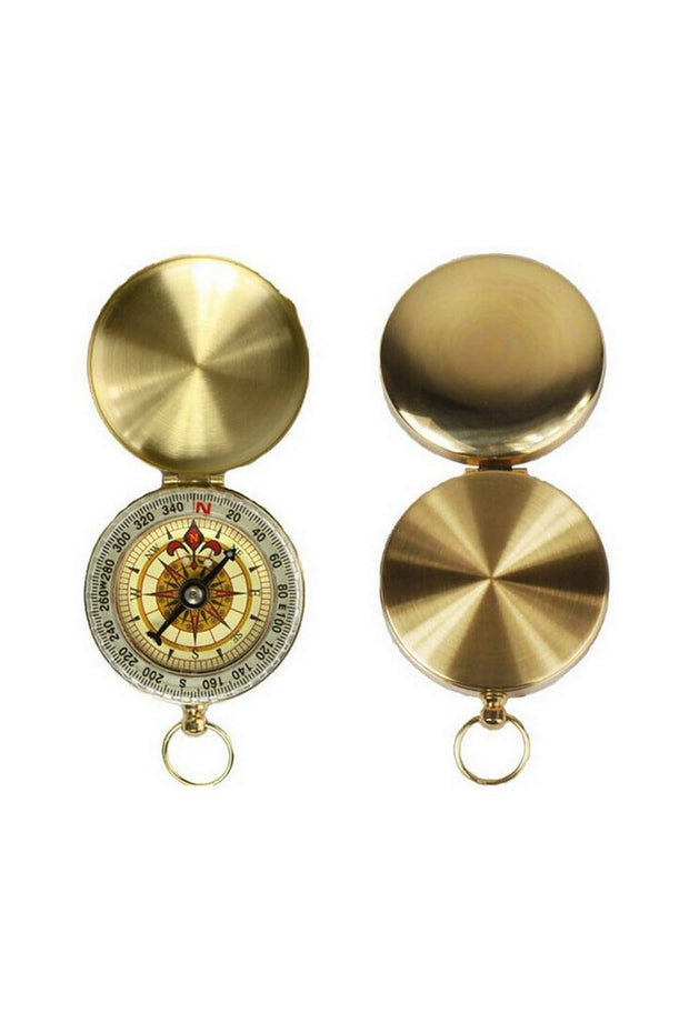 boussole_compass_pliable_metal_vintage_or