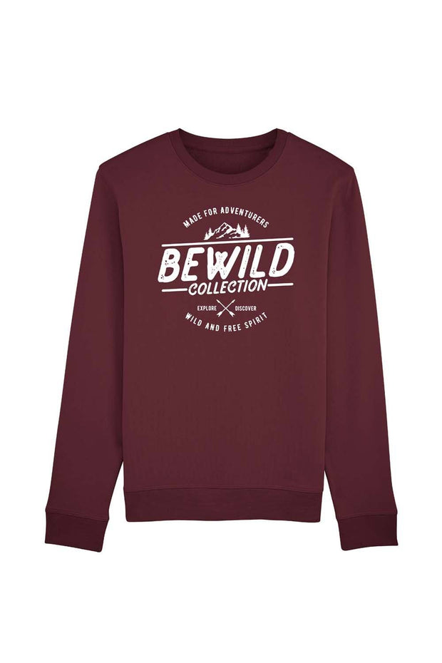 pull_homme_coton_bio_bewild_collection_rouge sombre