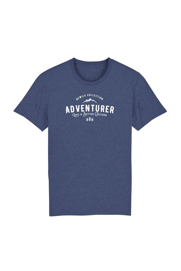t_shirt_homme_coton_biologique_adventurer_life_is_better_outside_bleu