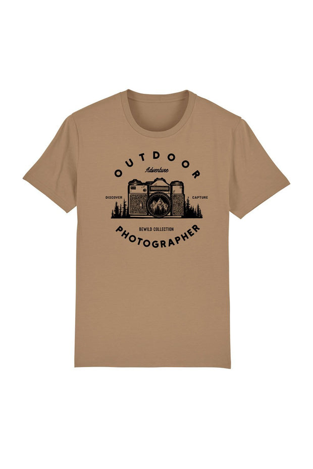 t_shirt_homme_coton_biologique_outdoor_photographer_beige