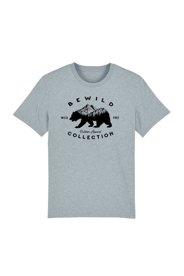 t_shirt_homme_coton_biologique_bear_mountains_bewild_collection_bleu_gris