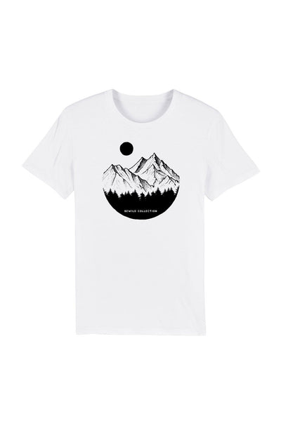 t_shirt_homme_coton_biologique_mountains_circle_pines_blanc