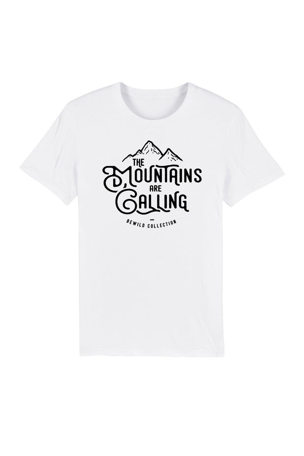 t_shirt_homme_coton_bio_mountains_are_calling_blanc