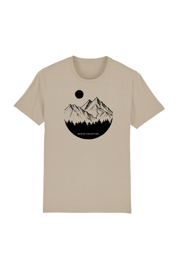 t_shirt_homme_coton_biologique_mountains_circle_pines_desert