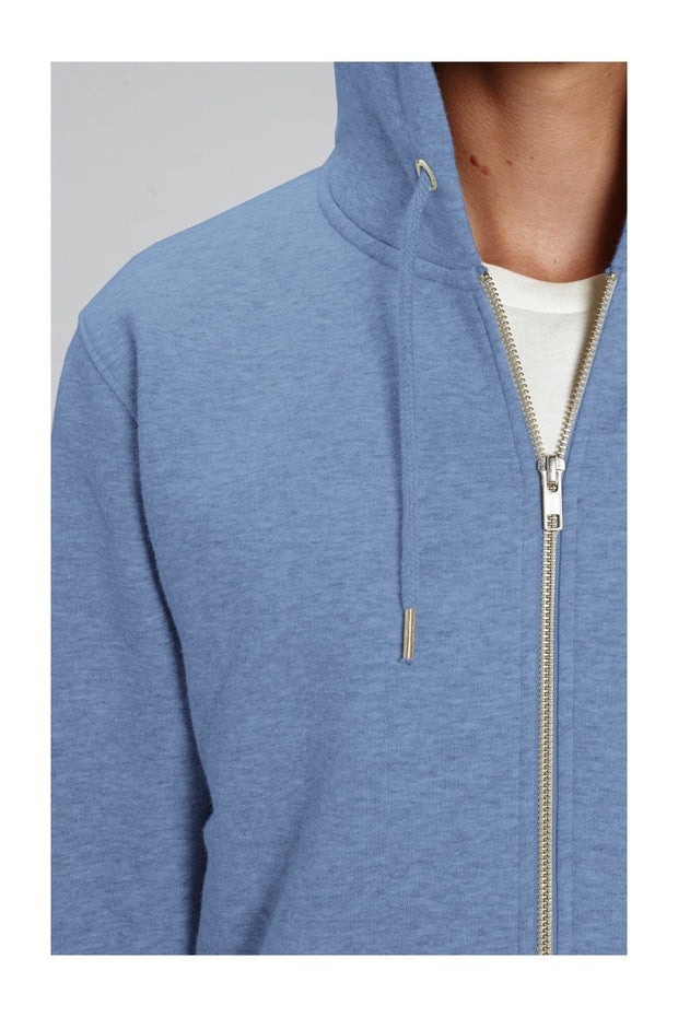 sweat_zippé_homme_coton_bio_vanlife_combi_road_is_calling_bleu_chine