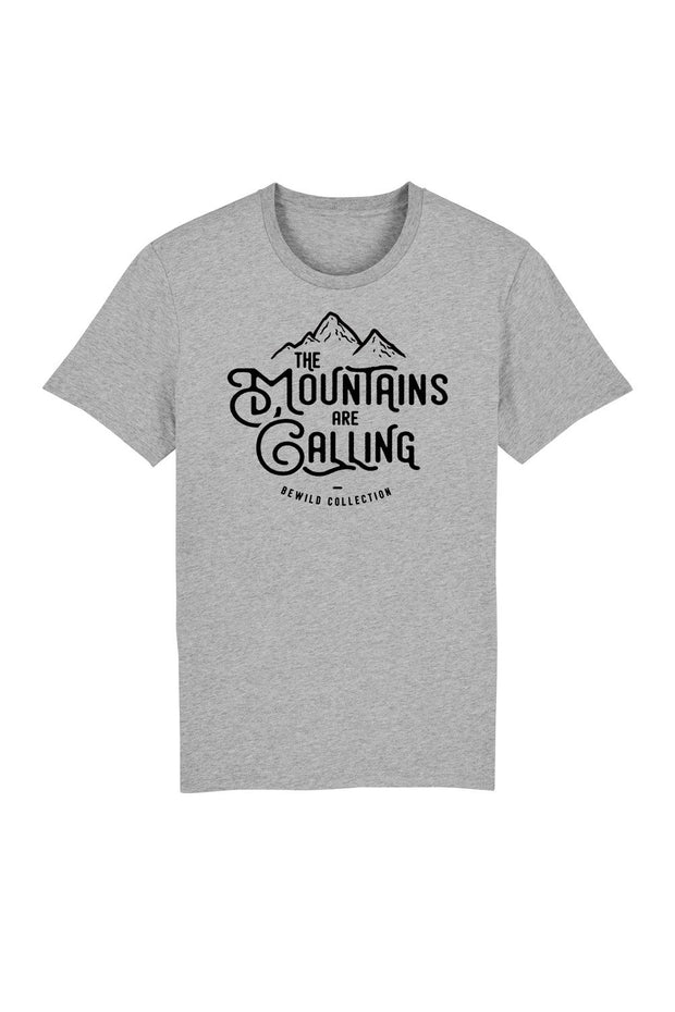 t_shirt_homme_coton_bio_mountains_are_calling_gris