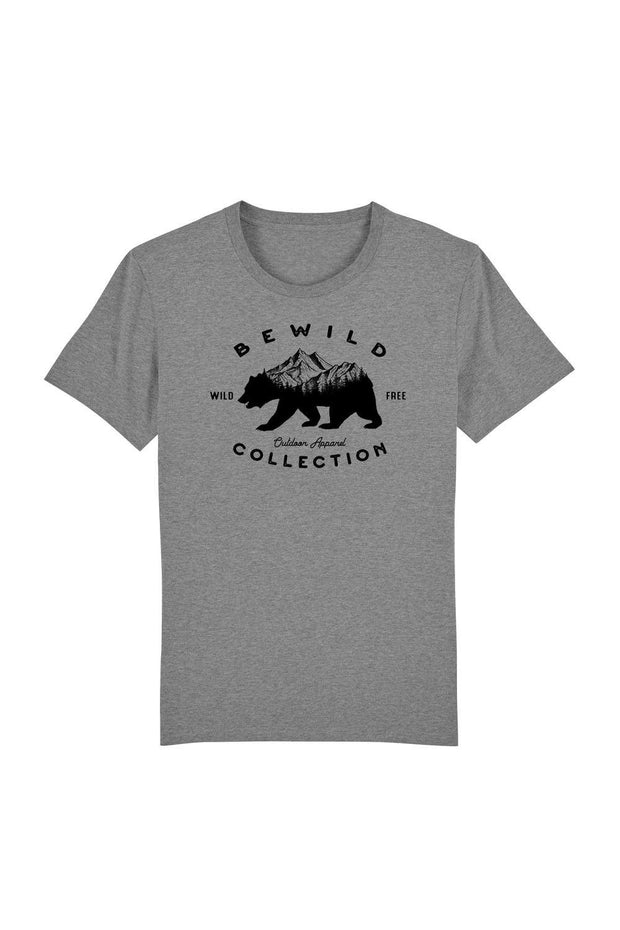 t_shirt_homme_coton_biologique_bear_mountains_bewild_collection_gris_fonce