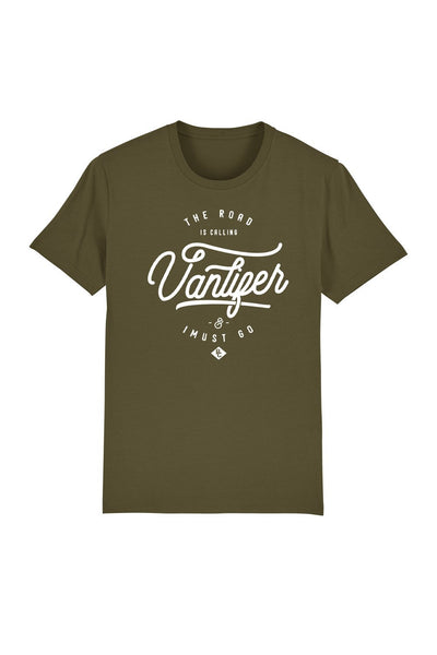 t_shirt_homme_coton_bio_vanlifer_road_is_calling_kaki