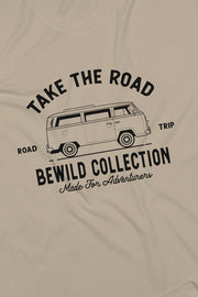 t_shirt_homme_coton_biologique_mountains_take_the_road_combi_volkswagen_t2_logo