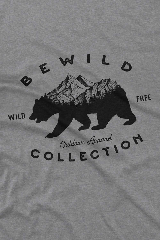 t_shirt_homme_coton_biologique_bear_mountains_bewild_collection_gris