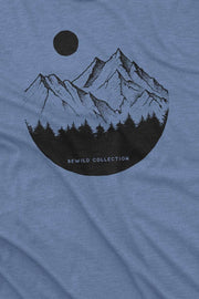 t_shirt_homme_coton_biologique_mountains_circle_pines_bleu_chine_logo