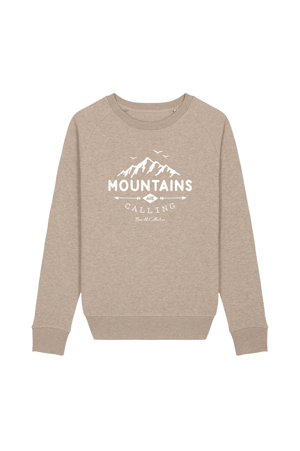 pull_femme_coton_bio_mountains_calling_beige