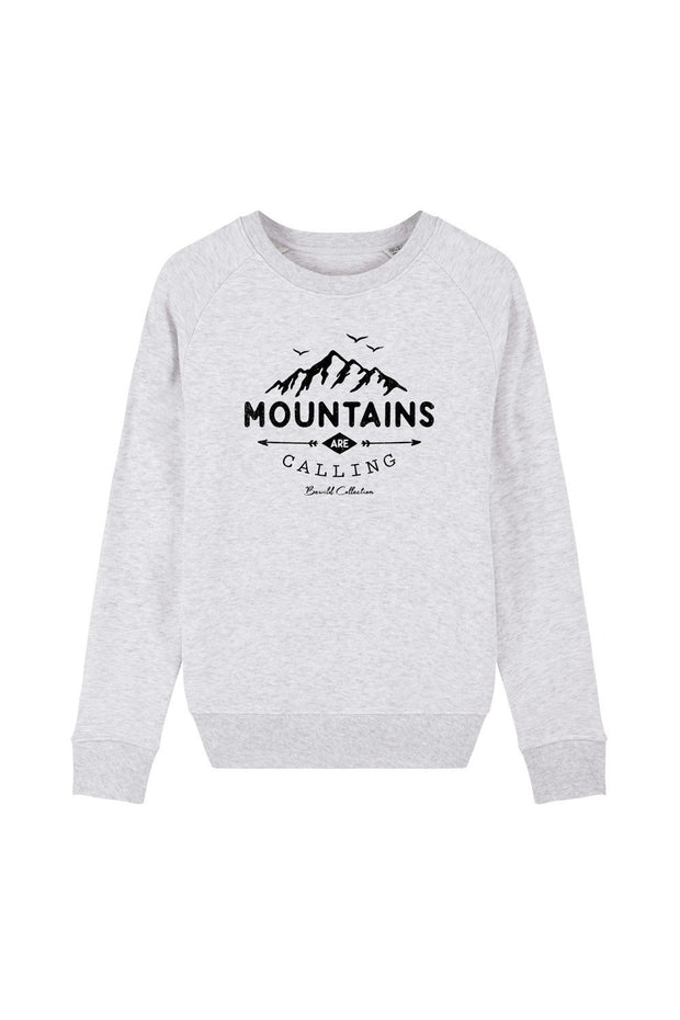 pull_femme_coton_bio_mountains_calling_gris_clair