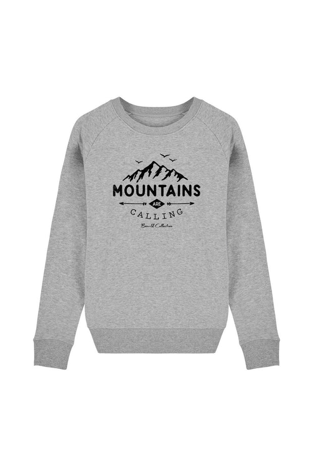 pull_femme_coton_bio_mountains_calling_gris