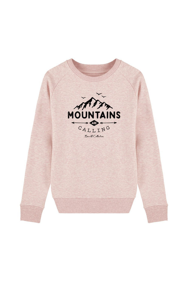 pull_femme_coton_bio_mountains_calling_rose