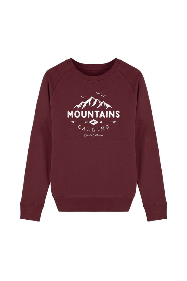 pull_femme_coton_bio_mountains_calling_rouge