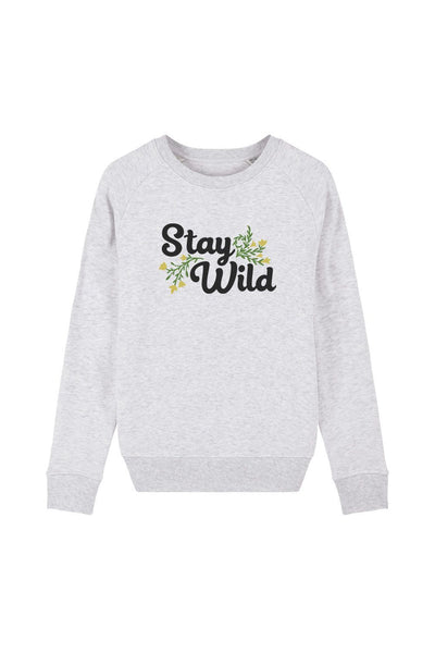pull_femme_coton_bio_stay_wild_flowers_gris_clair