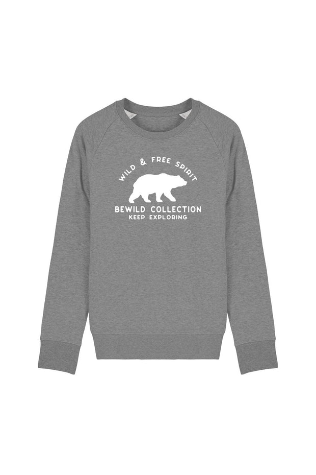 pull_homme_coton_biologique_keep_exploring_ours_gris