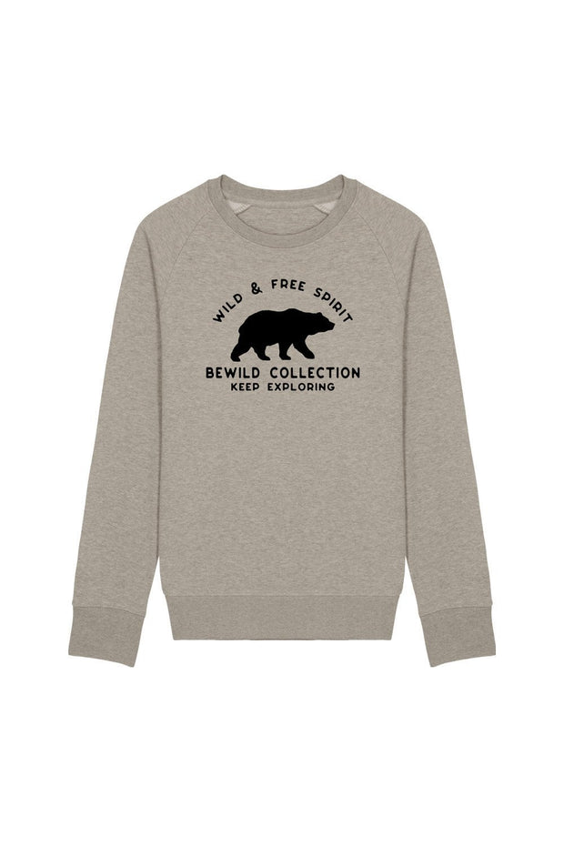 pull_homme_coton_biologique_keep_exploring_ours_beige_clair