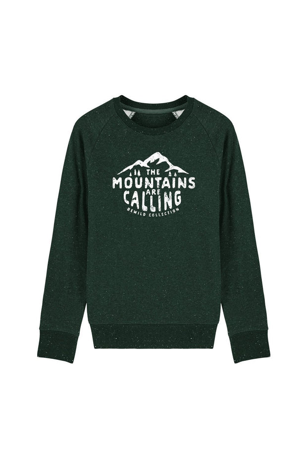 pull_homme_coton_bio_mountains_calling_vert_sombre