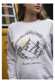 pull_femme_coton_bio_mountains_flowers_creme