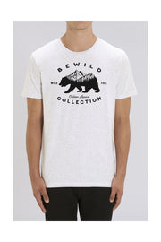 t_shirt_homme_coton_biologique_bear_mountains_bewild_collection_blanc