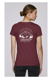 "T-shirt Femme coton bio ""ADVENTURE IS OUT THERE"""