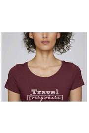 t_shirt_femme_coton_bio_travel_everywhere_rouge