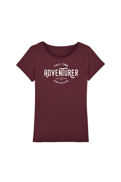 tshirt_femme_coton_bio_full_time_adventurer_rouge