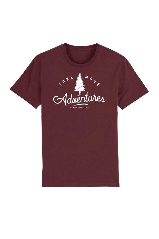 t_shirt_homme_coton_biologique_take_more_adventures_rouge
