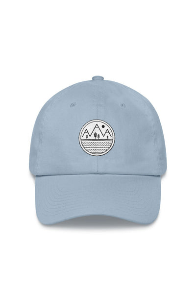 casquette_bleu_logo_brode_patch_aventure_mountains