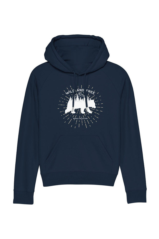 sweat_capuche_femme_coton_bio_ours_wild_free_navy