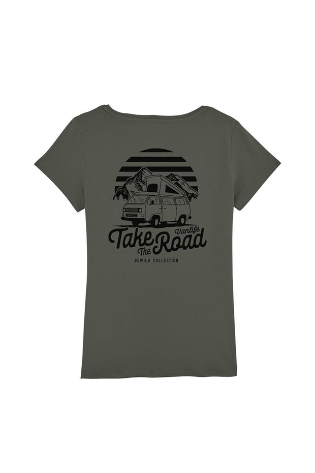 t_shirt_femme_coton_biologique_take_the_road_combi_volkswagen_t3_stone