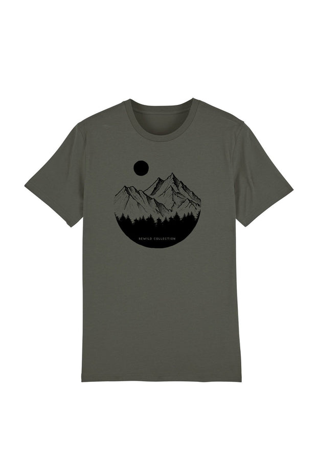 t_shirt_homme_coton_biologique_mountains_circle_pines_stone