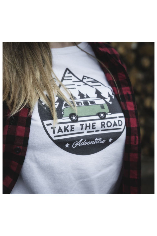 T-shirt Femme Take the road coton bio