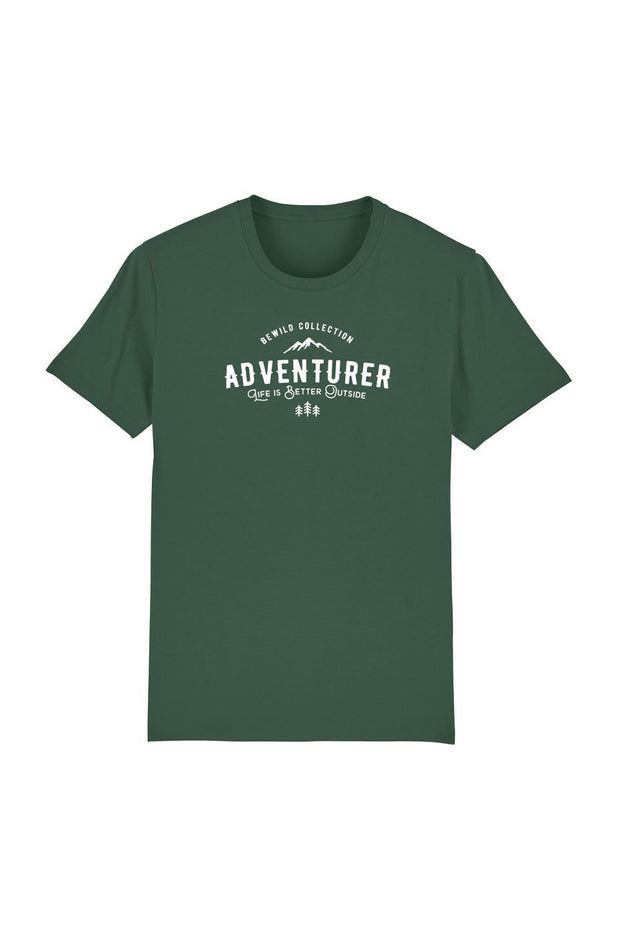 t_shirt_homme_coton_biologique_adventurer_life_is_better_outside_vert
