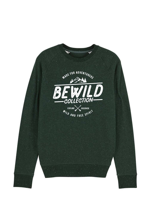 pull_homme_coton_bio_bewild_collection_vert_sombre