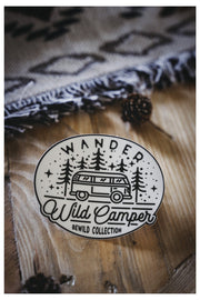 "Sticker ""WILD CAMPER"""