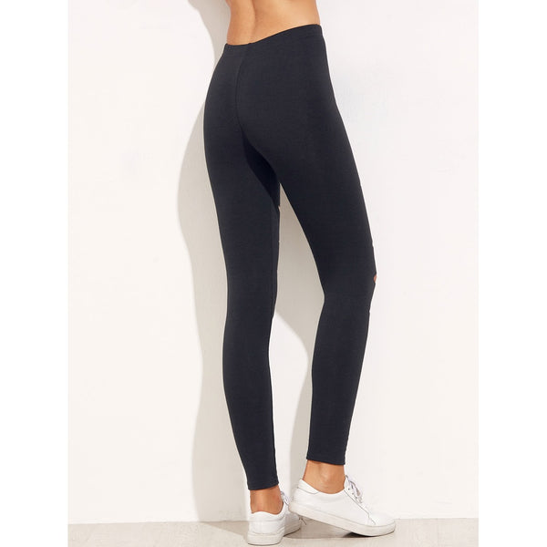 Cut Out Skinny Leggings - legging7