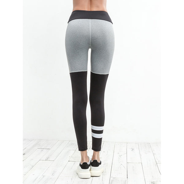 Color Block Varsity Striped Leggings - legging7