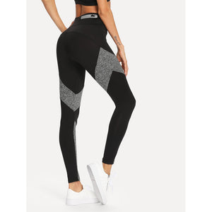 Contrast Panel Zip Detail Leggings - legging7