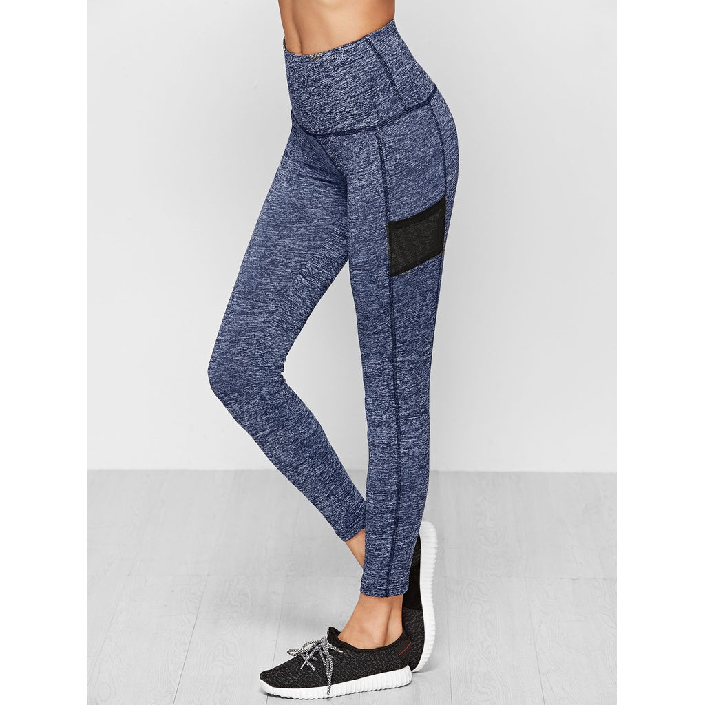 Knit Wide Waistband Leggings - legging7