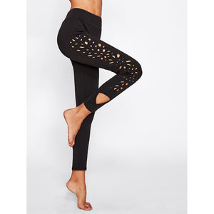 Laser Cut Side Leggings - legging7