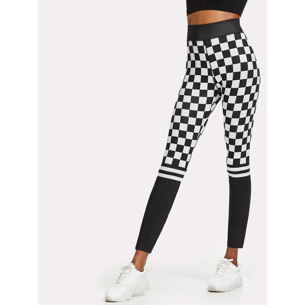 Mixed Print Leggings - legging 7