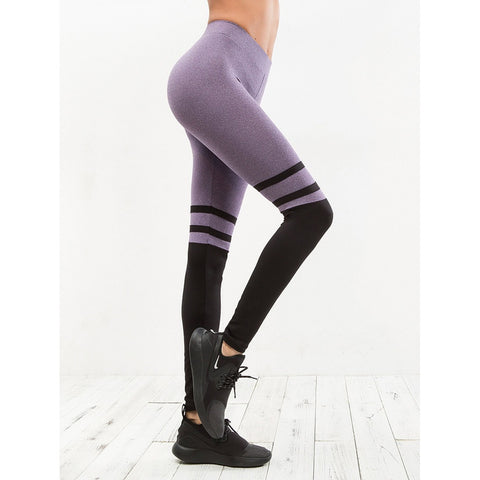 Varsity-Striped Color Block Leggings - legging 7