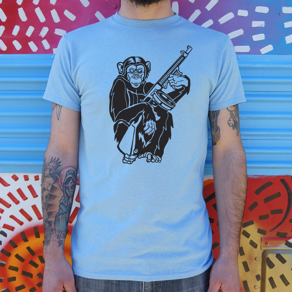 Chimp With A Gun T-Shirt (Mens)