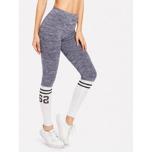 Varsity Print Space Dye Leggings - legging 7