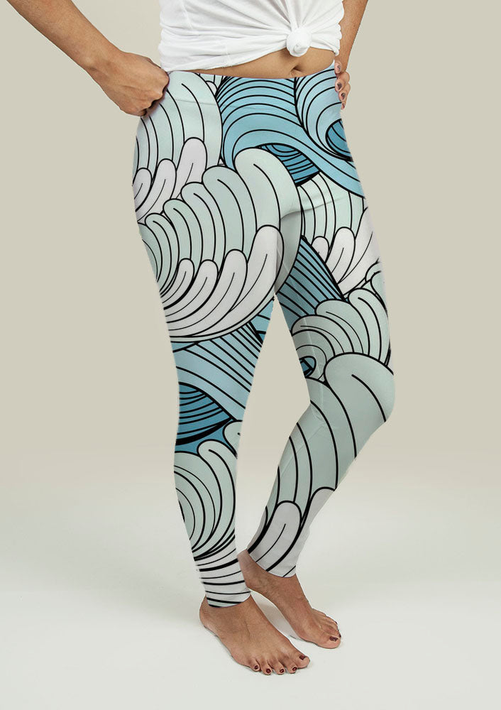 Leggings with Waves