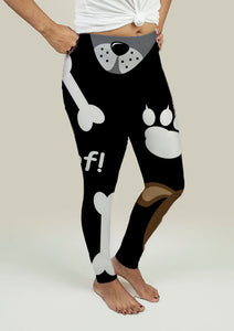 Leggings with Dogs Pattern