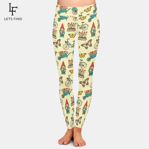 High Quality Women Fashion 2020 Milk Silk Print Leggings
